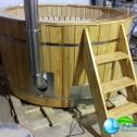 Аквабеседка - Банный чан Фурако с гидромассажем из лиственницы с подсветкой (1)