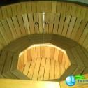 Аквабеседка - Банный чан Фурако с гидромассажем из лиственницы с подсветкой (3)