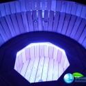 Аквабеседка - Банный чан Фурако с гидромассажем из лиственницы с подсветкой (5)