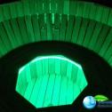 Аквабеседка - Банный чан Фурако с гидромассажем из лиственницы с подсветкой (6)