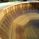 Банный чан Фурако с гидромассажем из лиственницы 15